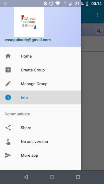 G Groups Android App Screenshot
